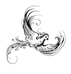 Stylized bird vector image