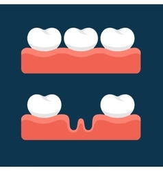Teeth with Gum for Healthcare vector
