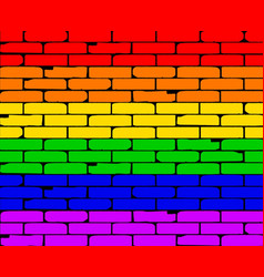 Transexual rainbow wall vector