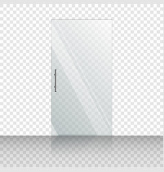 transparent glass door isolated on vector image
