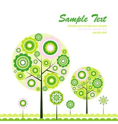 tree abstract background vector image