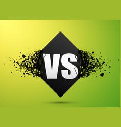 versus explosion banner vector image