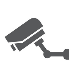 video surveillance glyph icon electronic device vector image
