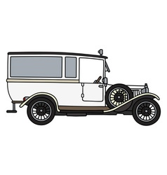 Vintage ambulance car vector