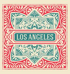 Vintage elegant line art logo emdlem design vector