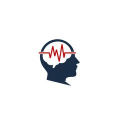 Wave brain logo icon design vector