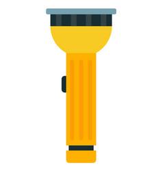 Yellow flashlight flat isolated vector