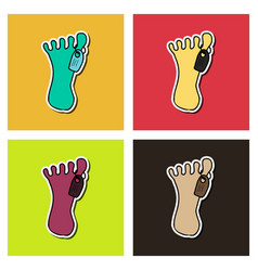 Zombie foot cartoon vector