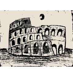 Coliseum doodle vector image vector image