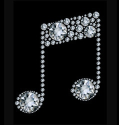 diamond music note vector image vector image