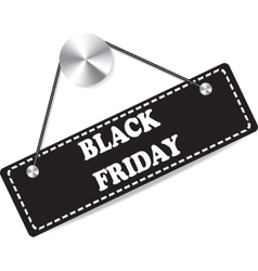 Paper tag plate for black friday vector image vector image
