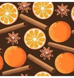 Seamless orange and cinnamon vector image