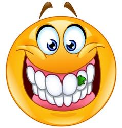 food stuck in teeth emoticon vector image vector image