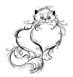 stylized Persian cat vector image