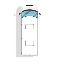 top view modern minivan isolated icon vector image vector image