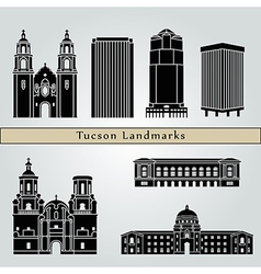 Tucson landmarks and monuments vector image vector image