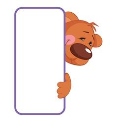 baby animal banner bear cartoon label vector image
