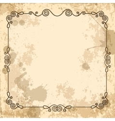calligraphic frame on the old background vector image vector image