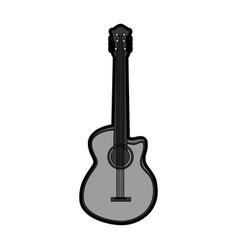 cute grey guitar cartoon vector image