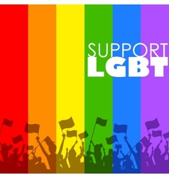 LGBT support vector image