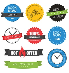 Set of labels and badges for hotels vector image vector image