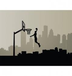 basketball dunk vector image vector image