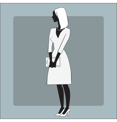 Businesswomen gadget office vector