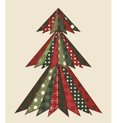 Christmas tree for scrapbooking 2 vector image vector image