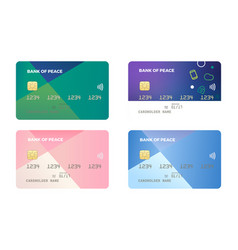 credit and debit card vector image