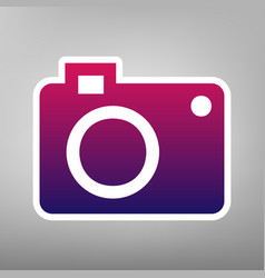 digital camera sign purple gradient icon vector image