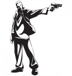 gunman vector image vector image