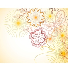 Hand-Drawn floral ornament vector image