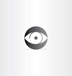 Human eye circle icon vector