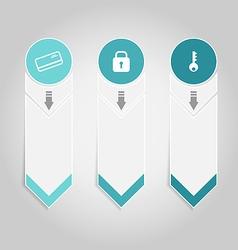 Modern design infographics element template paper vector image vector image