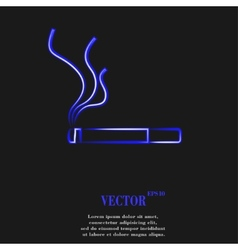 Smoking sign cigarette Flat modern web button and vector image