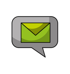 speech bubble with envelope vector image vector image