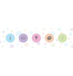 5 gluten icons vector