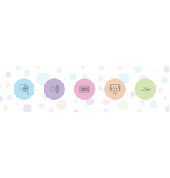 5 wave icons vector