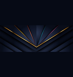 Abstract dark navy background with overlap vector