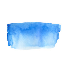 Abstract watercolor blue hand drawn textured stain vector