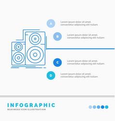 Audio hifi monitor speaker studio infographics vector