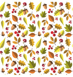 autumn seamless pattern background yellow leaves vector image