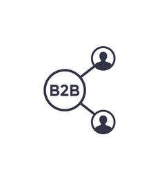 b2b commerce icon vector image