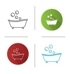 Baby bathtub icon vector