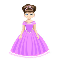 Beautiful princess in jewelry vector