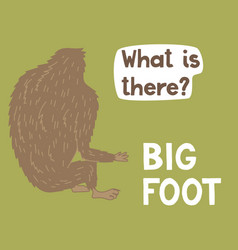 bigfoot creature cute big monster design vector image