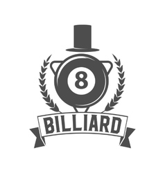 billiards emblem label and designed elements vector image