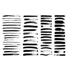 Black paint ink brush stroke brush line vector