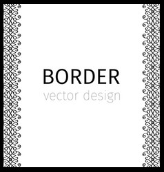 black vertical border with curls vector image