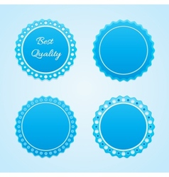 Blue lables vector